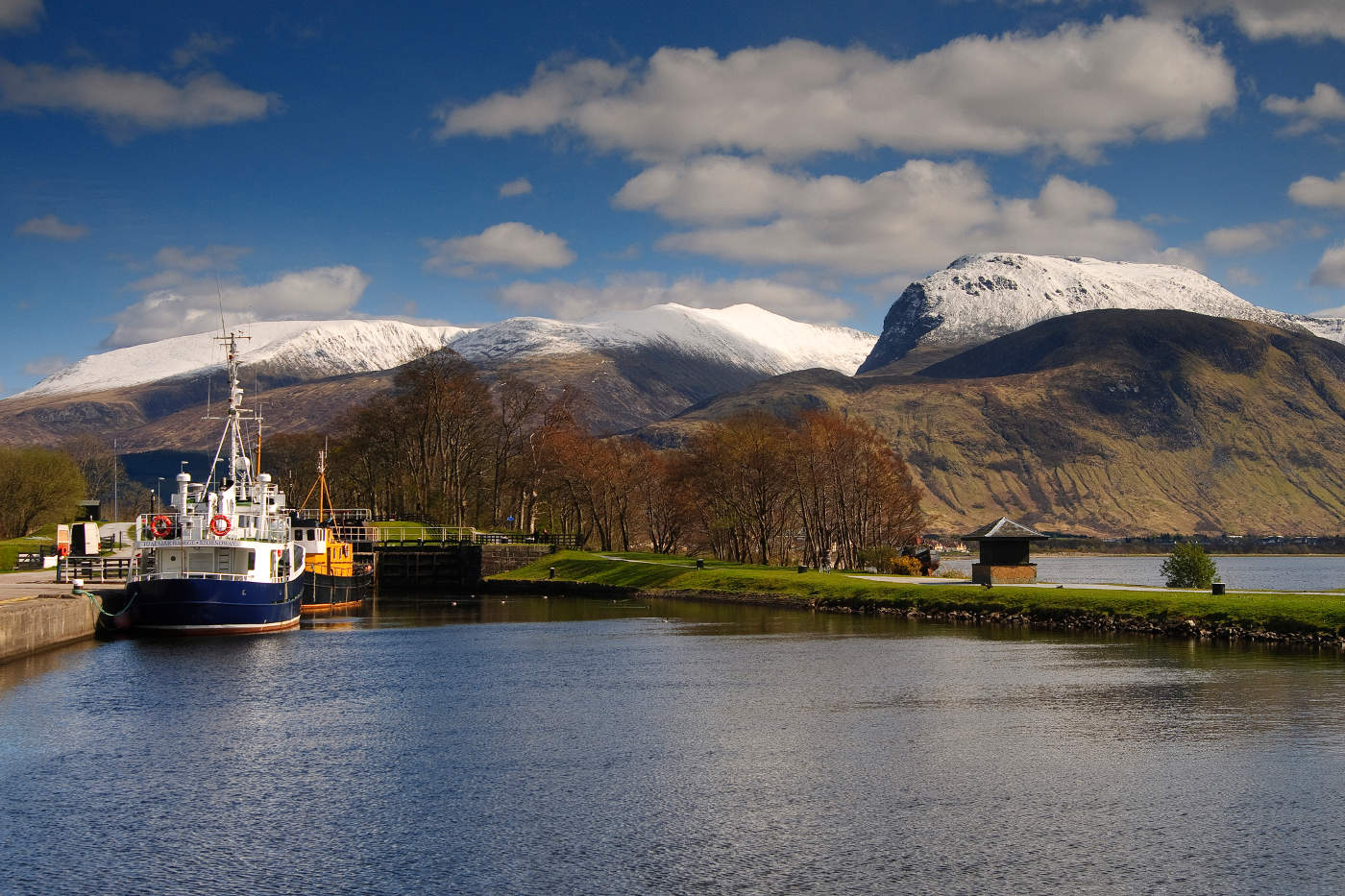 Ben Nevis from corpach panoramic