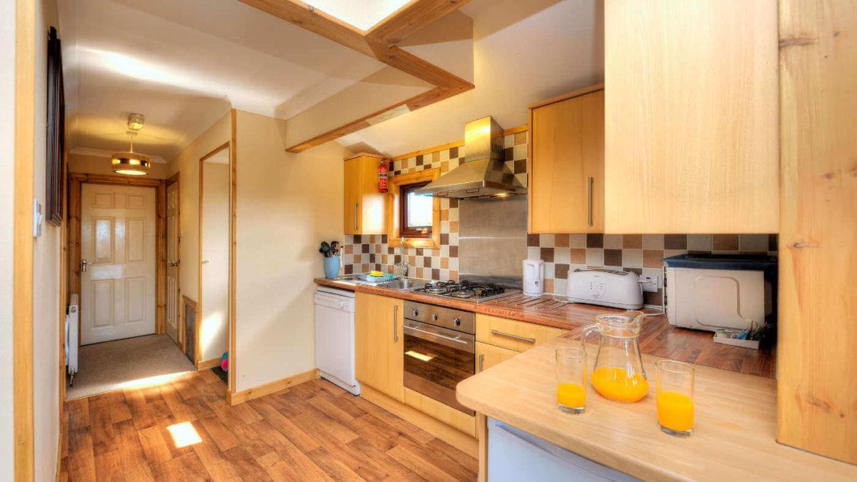 Skye Iona Holiday Lodge Kitchens Oban Scotland