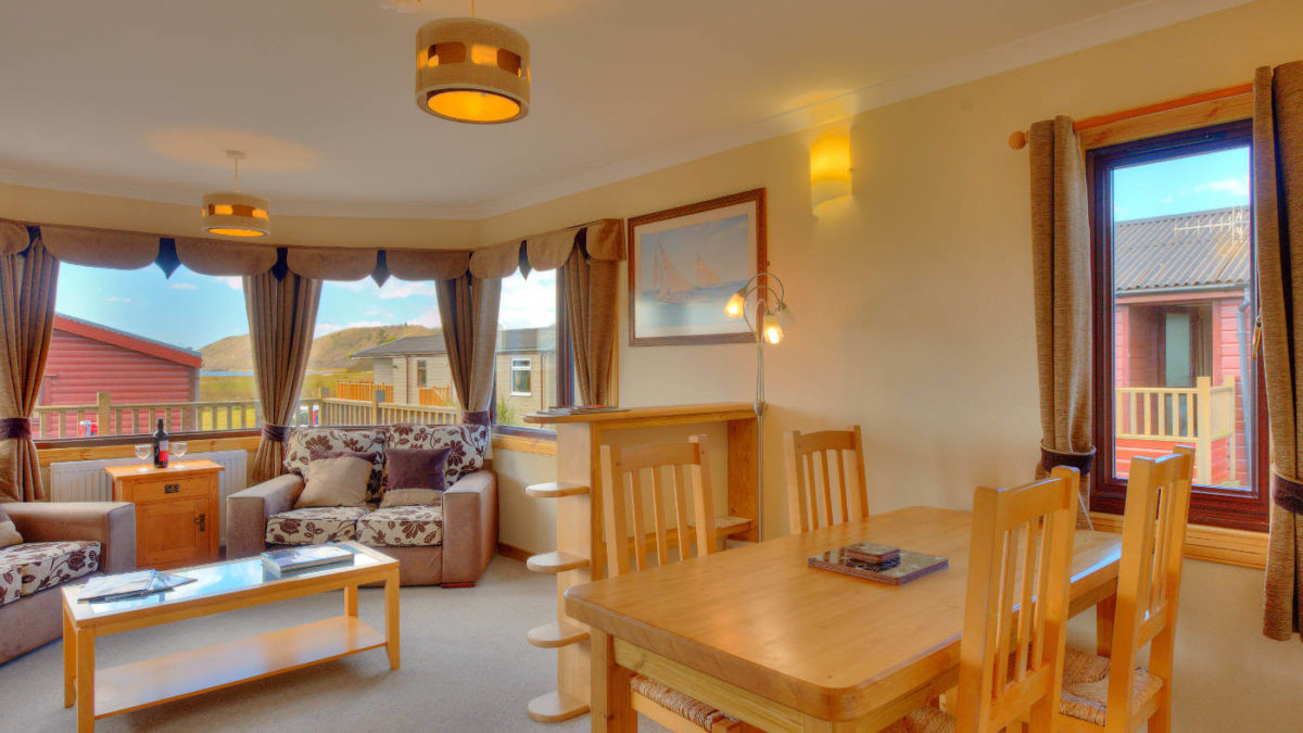 Skye Iona Living Room 4 Berth Lodge Oban