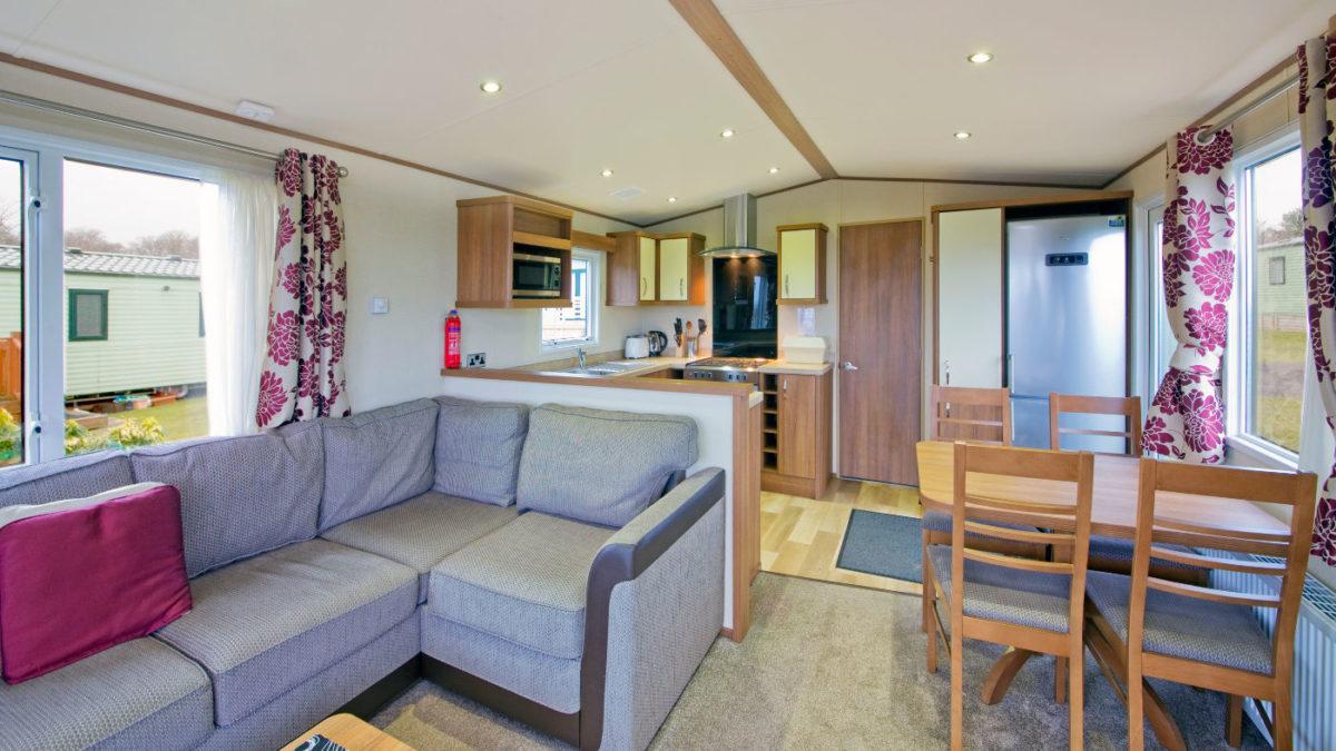 Summerbreeze caravan front room Oban Scotland