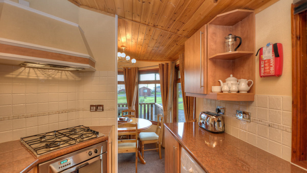 Woods 6 Berth Lodge Kitchen And Dining Room Oban Scotland