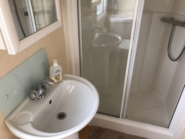 Ensuite Shower in Caravan