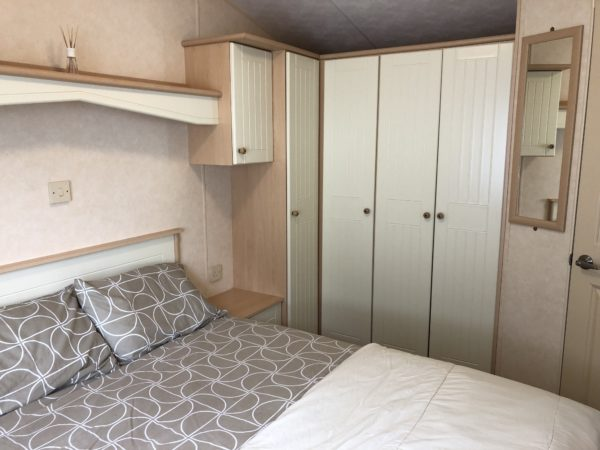 Caravan master bedroom cupboards